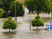 Flood, 2013, linz, austria — Stock Photo