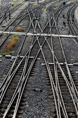 Railway tracks with switches — Stock Photo