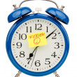 Alarm clock on vacation beginning — Foto de Stock