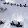 Stock Photo: Avalanche control for protection against avalanches