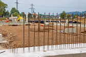 Steel mesh at construction site — Stock Photo