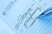 Toegang tot de kalender: belastingcontrole — Stockfoto