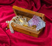 Gold and jewelry — Stock Photo
