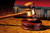 Judge gavel of a judge in court — Stock Photo