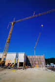 Construction of an industrial building — Stock Photo