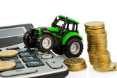 Cost accounting in agriculture — Stock Photo