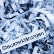 Stock Photo: Shredded paper tax returns