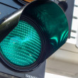 Green light at a traffic light — Stock Photo