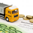 Stock Photo: Purchase contract for new truck