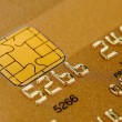 Stock Photo: Golden credit card