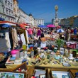 Linz, austria, old town, flea market — Stock Photo