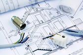 Blueprint for a house. electrical — Stock Photo