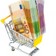 Stock Photo: Bills in shopping cart