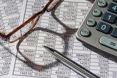 Calculators and statistk — Stock Photo