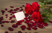 Růže na Valentýna a matky den — Stock fotografie