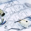 Blueprint for a house. electrical — Stock Photo #44155929