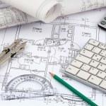 A house plan — Stock Photo #44156511