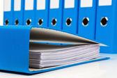 Pasta de arquivo com documentos e documentos — Foto Stock
