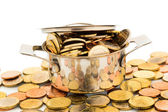 Pot with coins — Stock Photo