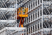 Construction of a bay warehouse — Stock Photo