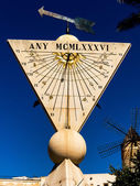 Sundial in palma, mallorca — Foto de Stock