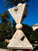 Sundial in palma, mallorca — Stockfoto