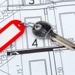 planta de casa com chave — Foto Stock #45062841