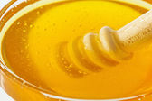 Honey against white background — Stock Photo