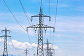 линия электропередачи — Стоковое фото