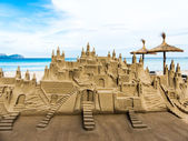 Sand castle in mallorca — Stock Photo