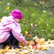 Girl in autumn — Foto de Stock