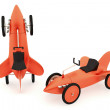 Toy rocket-car collection — Stock Photo