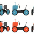 Toy tractor collection — Stock Photo