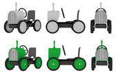 Colección de tractor de juguete — Foto de Stock