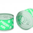Canned oxygen, two green tins — Stock Photo #24933715