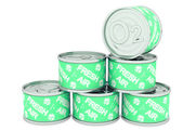 Canned oxygen green label, fresh air — Stock Photo