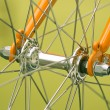 Stock Photo: Bicycle part, front axis