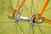 Bicycle part, front axis — Stock Photo