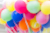 Toy balloons blurred background — Stock Photo