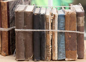 Old books bundle — Stock Photo
