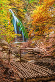 Waterfall Jur-Jur, Crimea, Ukraine — Stock Photo