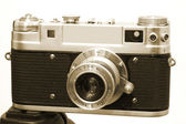 Vintage Camera 3 Mounted On Tripod — Stock Photo