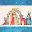 Stock Photo: Christmas Nativity scene and Three Kings.