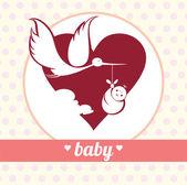 Yeni doğan — Stok Vektör
