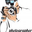 Stock Vector: Photographer