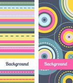 Set of Banners. Abstract Background. — Stock Vector