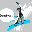 Stock Vector: Snowboard