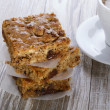 Stock Photo: Blondie brownie with walnuts and chocolate