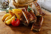 Baked pork ribs — Stock Photo