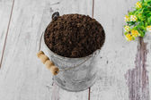 Yard bucket to the ground — Stockfoto